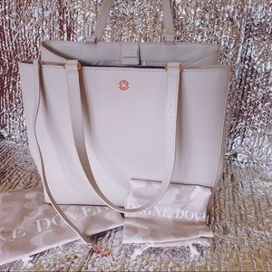 Dagne Dover Allyn Tote Large color Bone Leather
